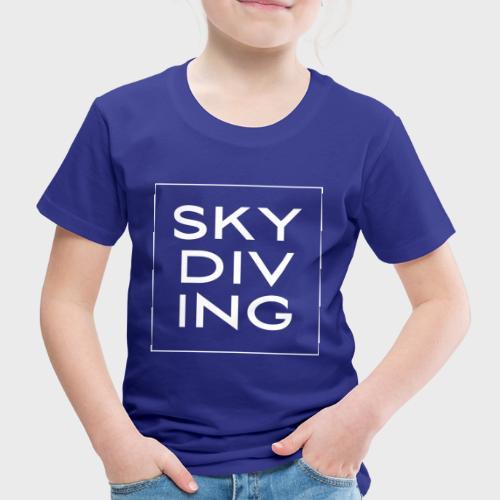 SKY DIV ING White - Kinder Premium T-Shirt