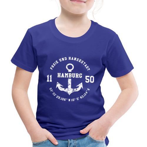 Freie und Hansestadt Hamburg 1150 weiss - Kinder Premium T-Shirt
