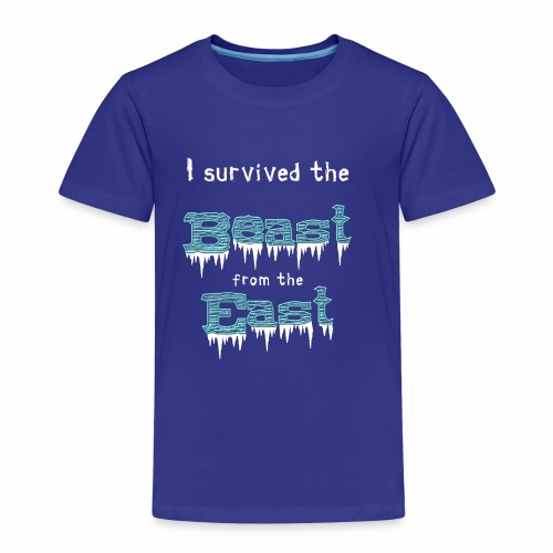 I survived the Beast from East! - Kids' Premium T-Shirt
