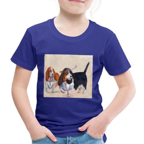 Basset hound_double-trot - Børne premium T-shirt