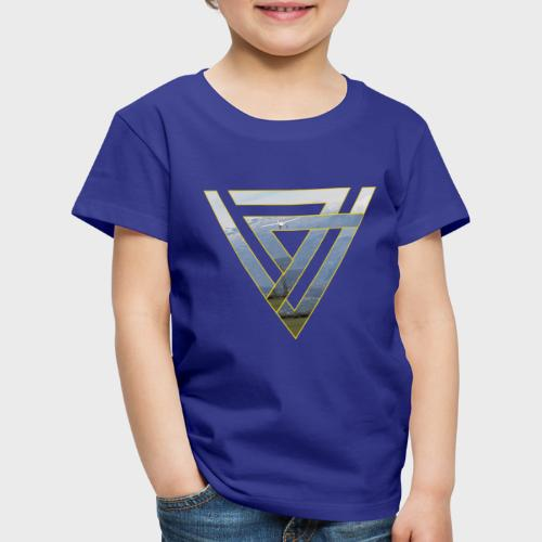 Triangle Plane - Kinder Premium T-Shirt