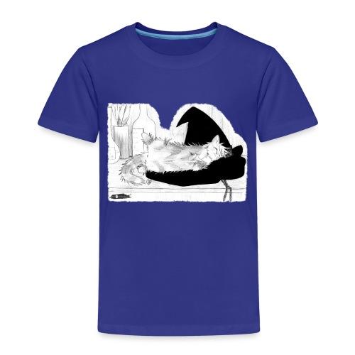 Tyrrin Hexenkater auf Hut (grau) - Kinder Premium T-Shirt