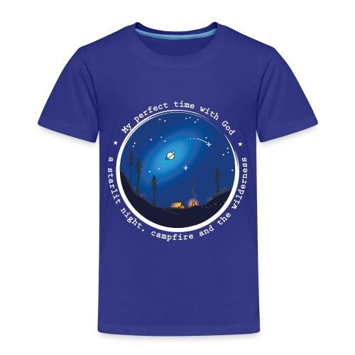 Sany O. Jesus Camping Star Wild Perfect Time God - Kinder Premium T-Shirt