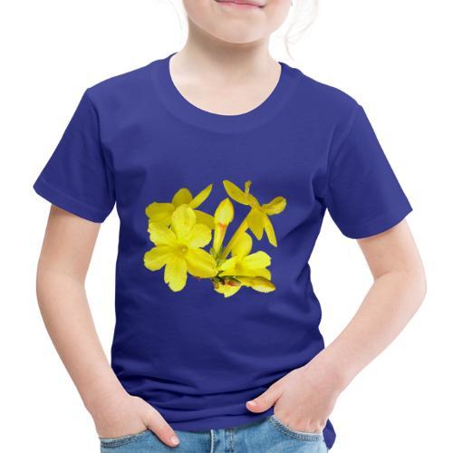 Winterjasmin Jasmin gelb Duft Zierpflanze Strauch - Kinder Premium T-Shirt