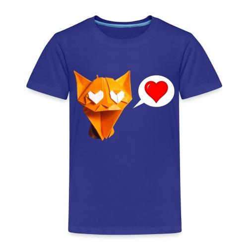 Adorable Cat Origami - Cat - Gato - Gatto - Katze - Kids' Premium T-Shirt