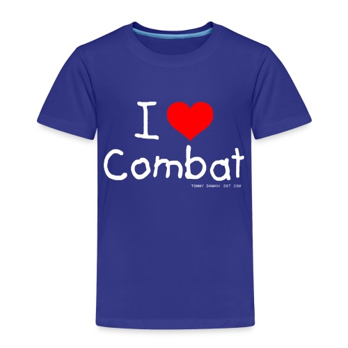 I Love Combat - White Font - Kids' Premium T-Shirt