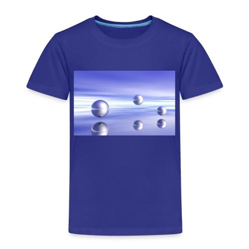 Schwebende Kugeln (3D Landschaft) - Kinder Premium T-Shirt