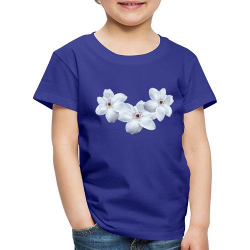 Jalokärhöt, valkoinen - Lasten premium t-paita