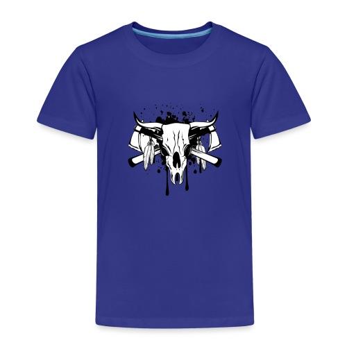 14255266 Ilustración vectorial cráneo de toro y crosse - Camiseta premium niño