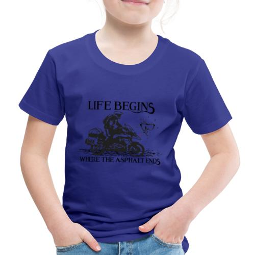 Life starts GS 2 - Premium-T-shirt barn