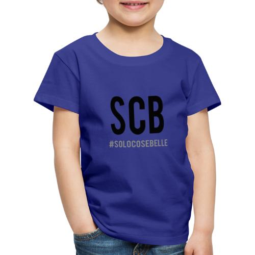 scb scritta nera - Maglietta Premium per bambini