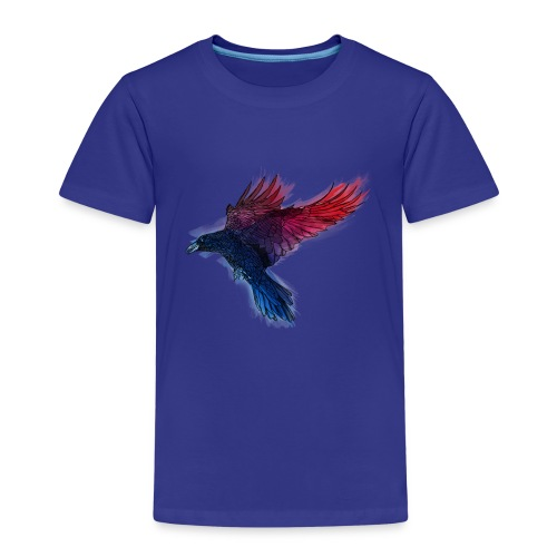 Watercolor Raven - Kinder Premium T-Shirt