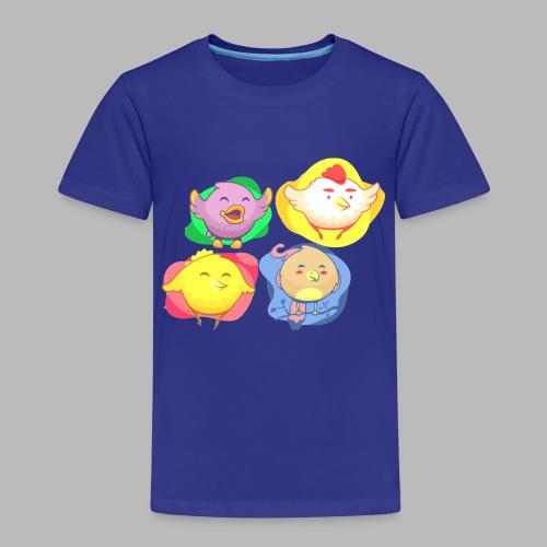cute birds, lindas aves divertidoa - Camiseta premium niño