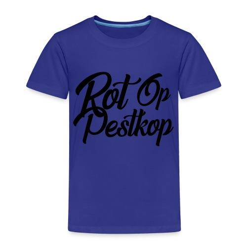 Rot Op Pestkop - Curly Black - Kinderen Premium T-shirt