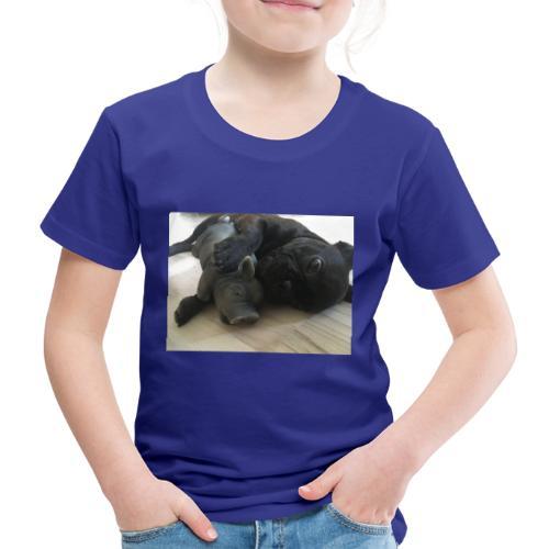 kuschelnder Hund - Kinder Premium T-Shirt