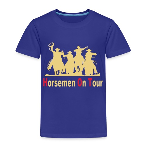 Horsemen On Tour Vektor min 27x20 cm - Kinder Premium T-Shirt