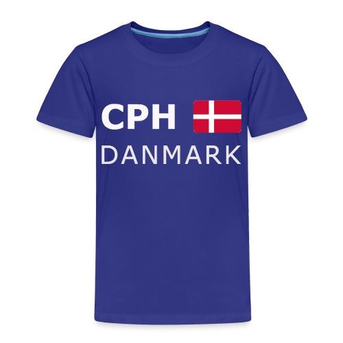 CPH DANMARK white-lettered 400 dpi - Kids' Premium T-Shirt