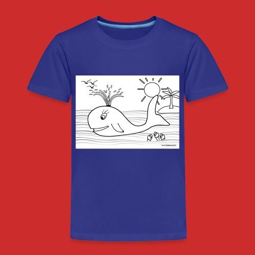 disegno_balenotta_da_colorare-jpg - Maglietta Premium per bambini