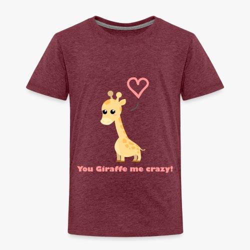 Giraffe Me Crazy - Børne premium T-shirt