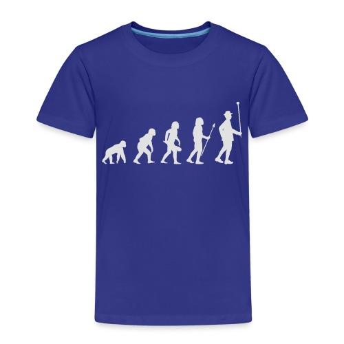 Evolution Stabführer weiß - Kinder Premium T-Shirt