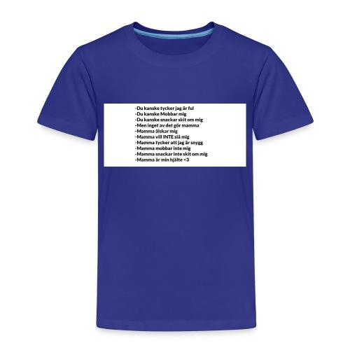 Mamma tröja som gör din mamma glad :) - Premium-T-shirt barn