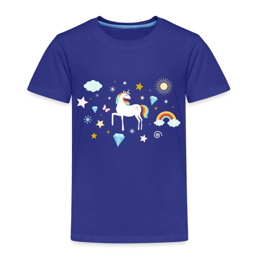 Einhorn Traumwelt Chaos Rainbow Unicorn Sterne - Kinder Premium T-Shirt