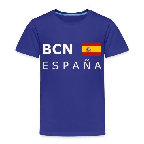 BCN ESPAÑA white-lettered 400 dpi - Kids' Premium T-Shirt