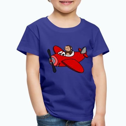 Monkey Moe - Appelsin - Premium-T-shirt barn