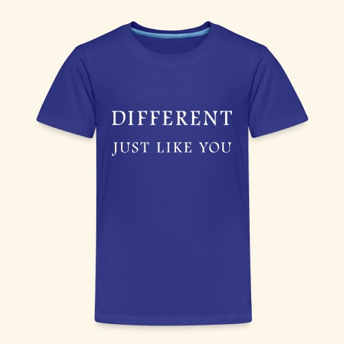 Different Just Like You (white font) - Kinderen Premium T-shirt