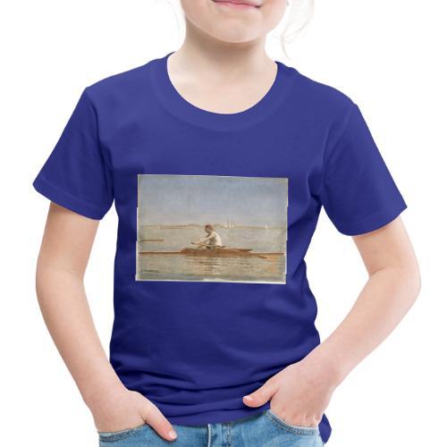 John Biglin in a Single Scull - Thomas Eakins - T-shirt Premium Enfant