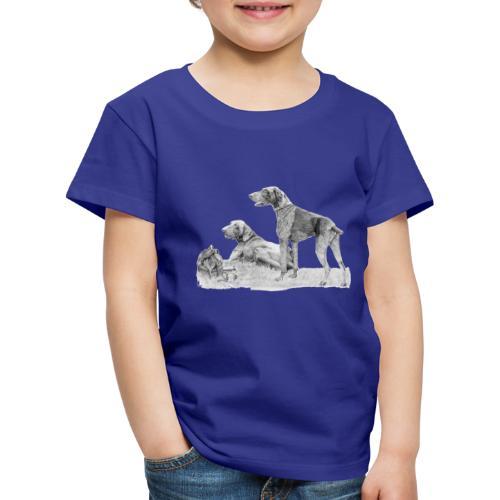 German shorthair - Børne premium T-shirt