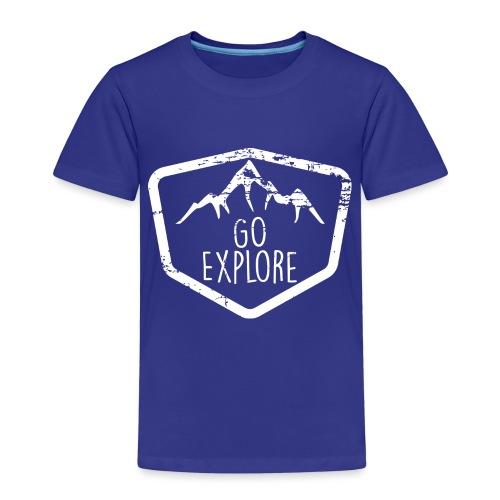 Camping Mountain Go Explore Hiking Camper Outdoor - T-shirt Premium Enfant