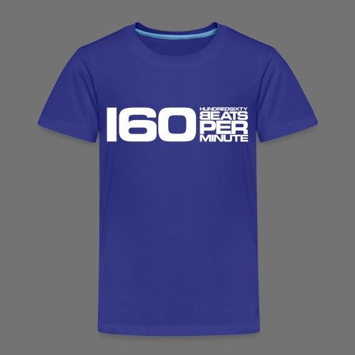 160 BPM (hvid lang) - Børne premium T-shirt
