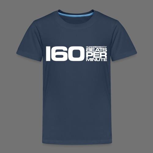 160 BPM (valkoinen pitkä) - Lasten premium t-paita