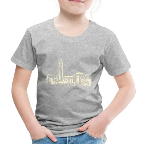 Helsinki railway station pattern trasparent beige - Kids' Premium T-Shirt
