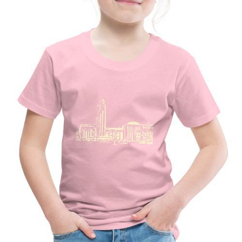 Helsinki railway station pattern trasparent beige - Kids' Premium T-Shirt