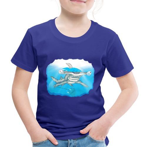 Hunting hammer fish design print - Kids' Premium T-Shirt