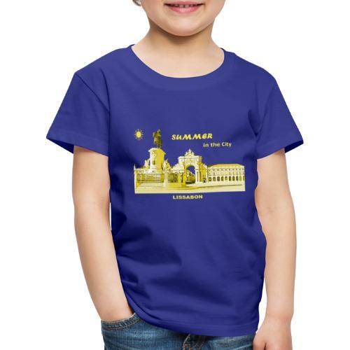 Sommer Lissabon Portugal Hauptstadt City Palast - Kinder Premium T-Shirt