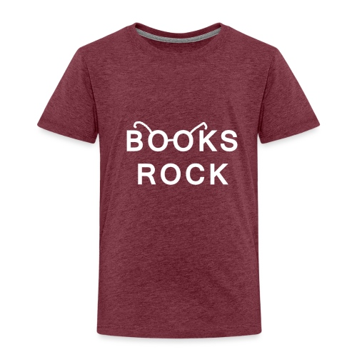Books Rock White - Kids' Premium T-Shirt