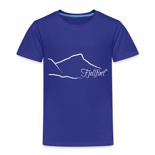 Fjellfint m/hvit logo - Premium T-skjorte for barn
