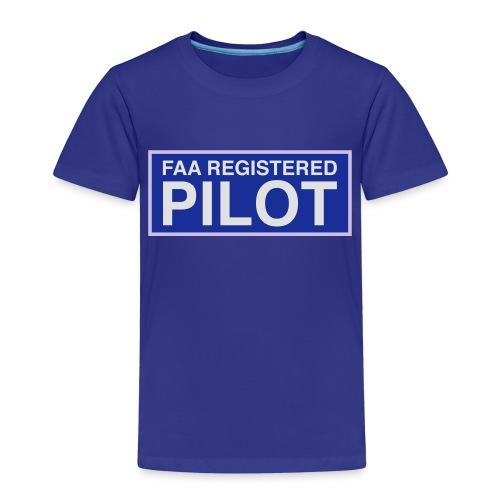 faa part 107 registered pilot - Kids' Premium T-Shirt