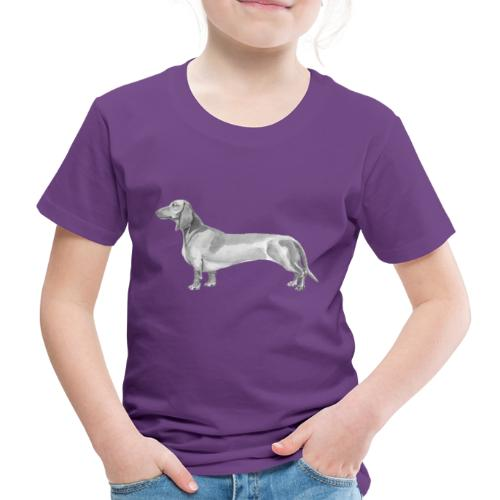 Dachshund smooth haired - Børne premium T-shirt