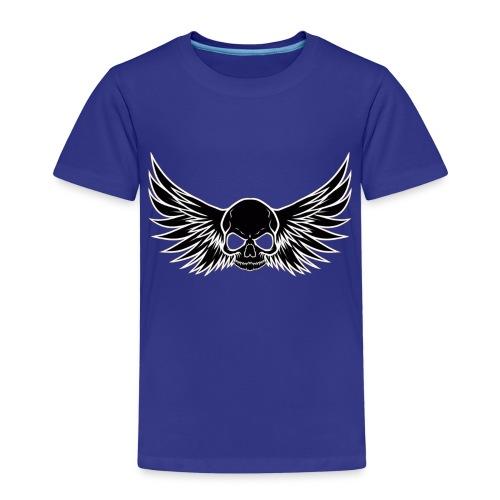 skull wings black - Kinderen Premium T-shirt