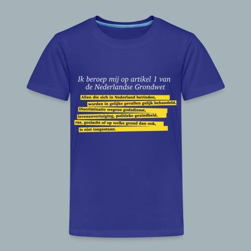 Nederlandse Grondwet T-Shirt - Artikel 1 - Kinderen Premium T-shirt