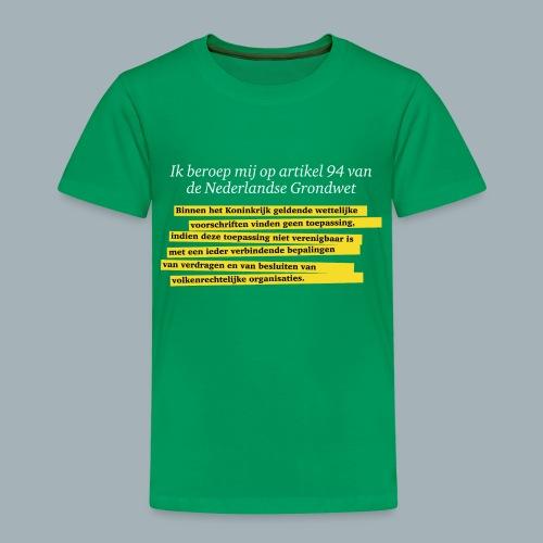 Nederlandse Grondwet T-Shirt - Artikel 94 - Kinderen Premium T-shirt