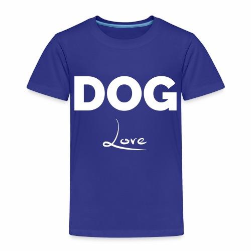 DOG LOVE - Geschenkidee für Hundebesitzer - Kinder Premium T-Shirt
