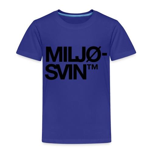 Miljøsvin (tm) - Det norske plagg - Premium T-skjorte for barn