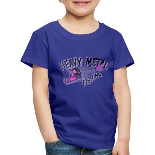 heavy metal red pink.logo - Kinder Premium T-Shirt