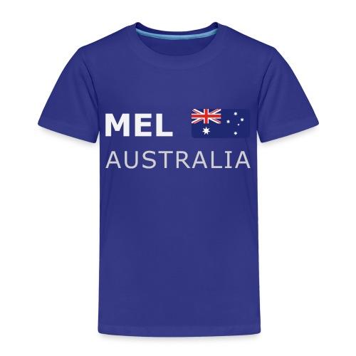 MEL AUSTRALIA white-lettered 400 dpi - Kids' Premium T-Shirt