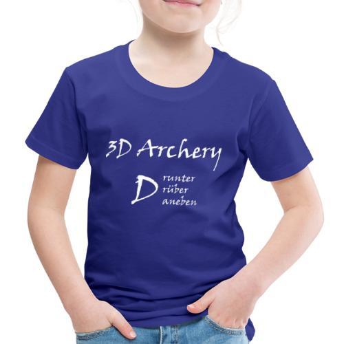 3D Archery white - Kinder Premium T-Shirt